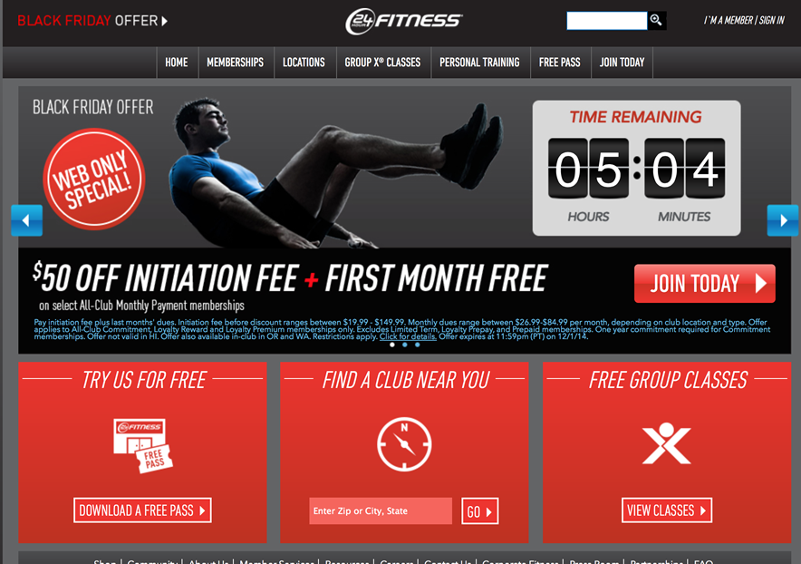 24 hour fitness promotion code initiation fee