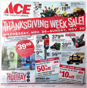 ace hardware black friday scan - page 1