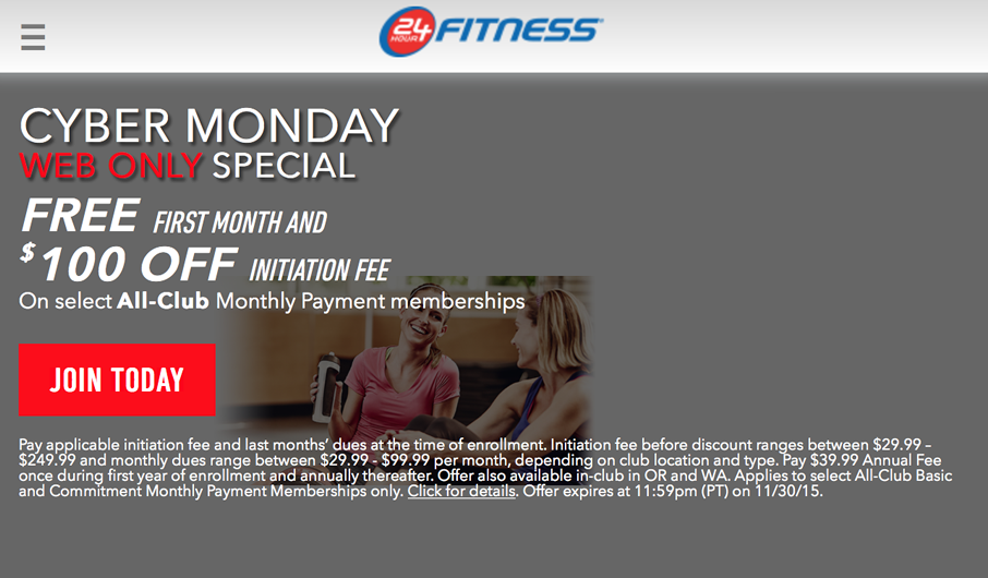 24 Hour Fitness Monthly Cost