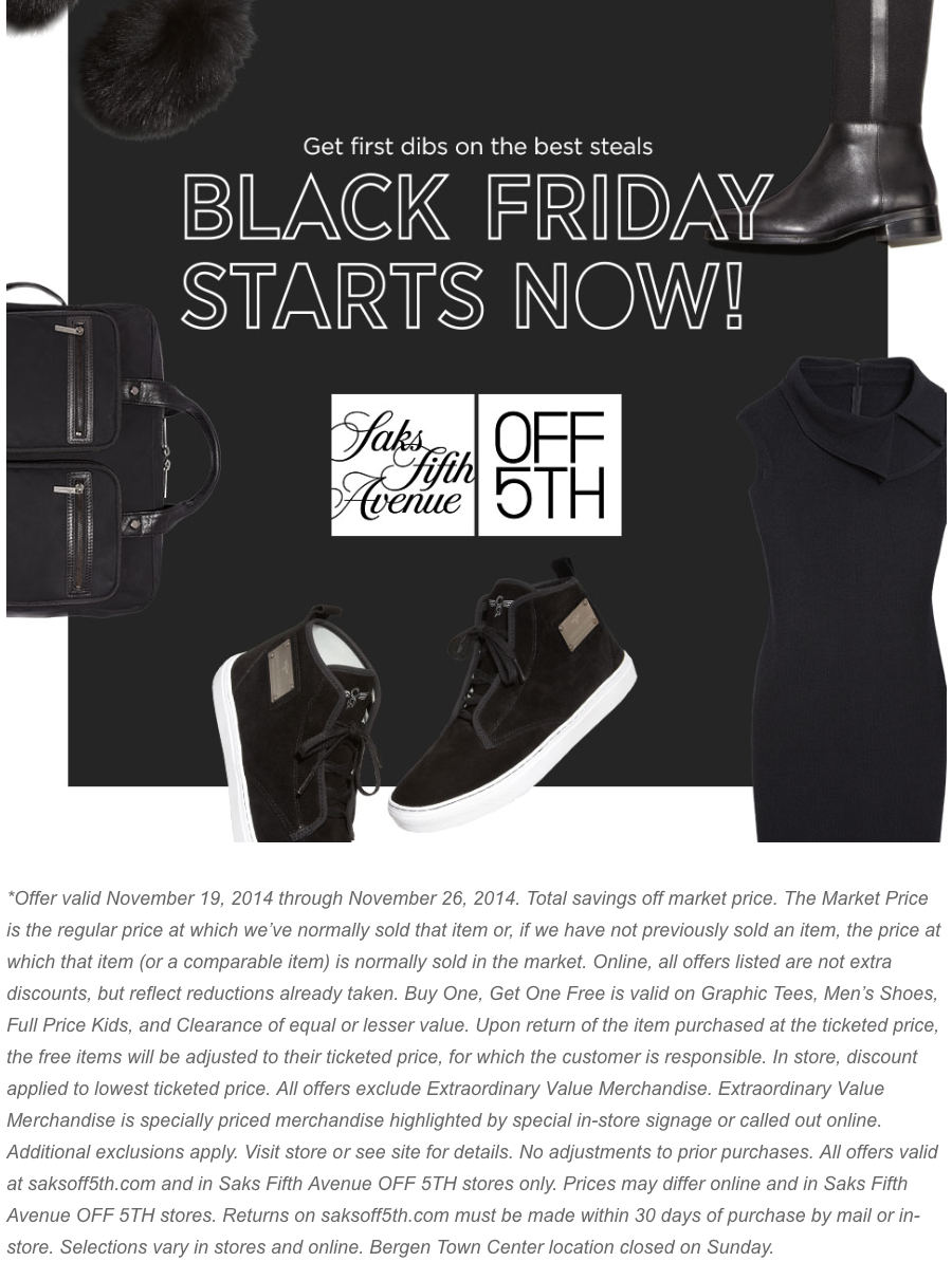 Saks off 5th coupon code june 2018