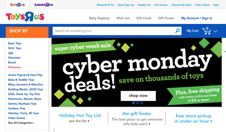 toys r us cyber monday 2017 deals coupons. Black Bedroom Furniture Sets. Home Design Ideas