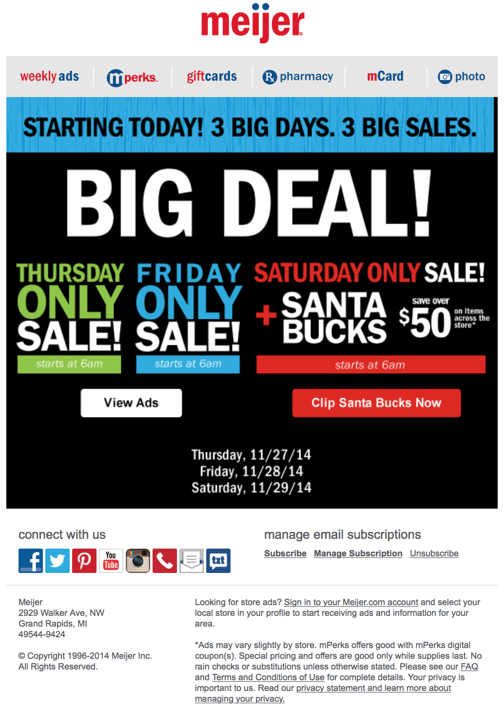 meijer black friday ad scan page 1. Black Bedroom Furniture Sets. Home Design Ideas