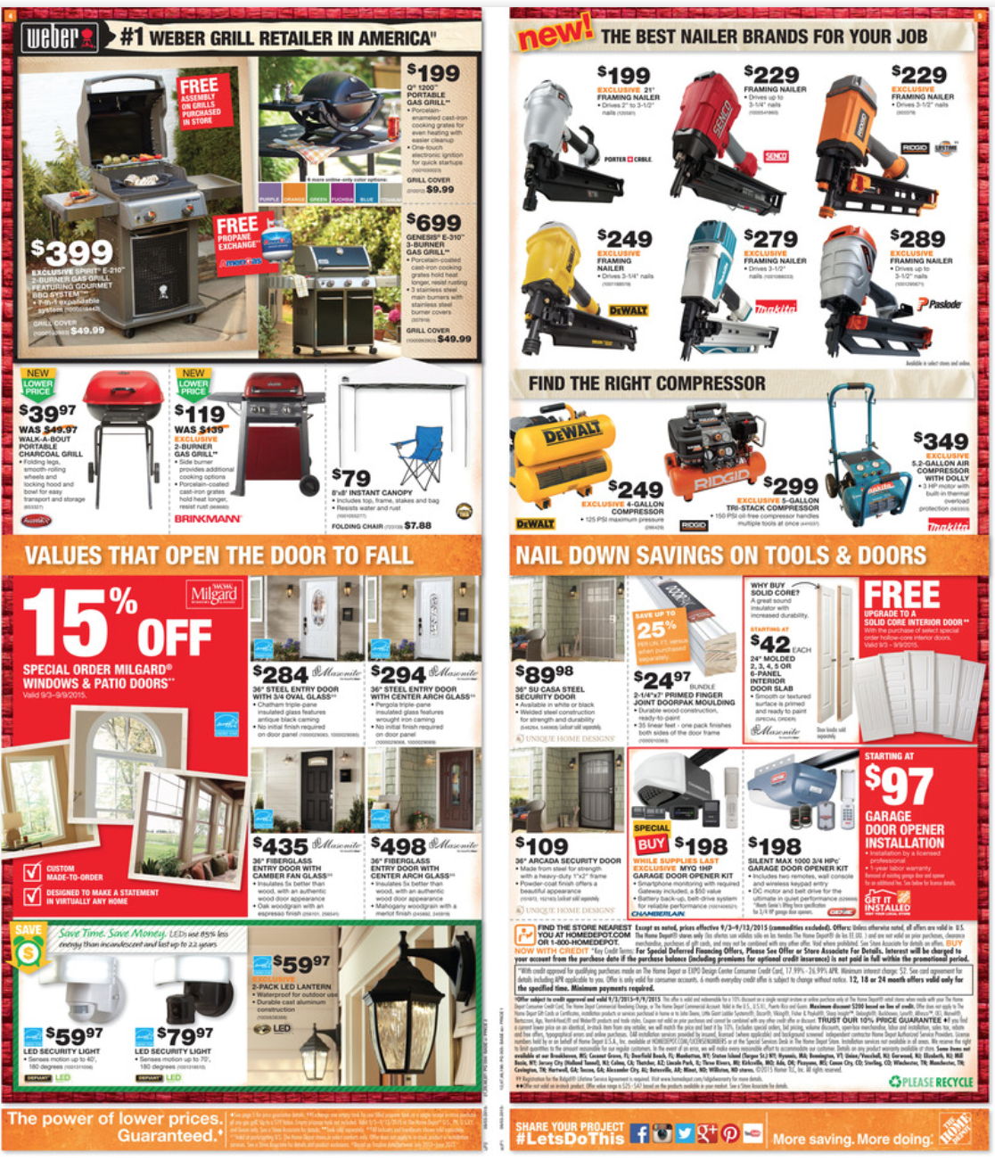 Home Depot Labor Day Sale For 2015 Ads Mailer Amp Coupons