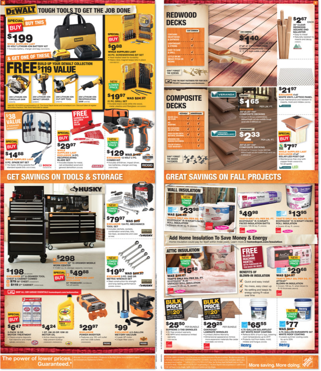 Home Depot Labor Day Sale for 2015 – Ads, Mailer & Coupons