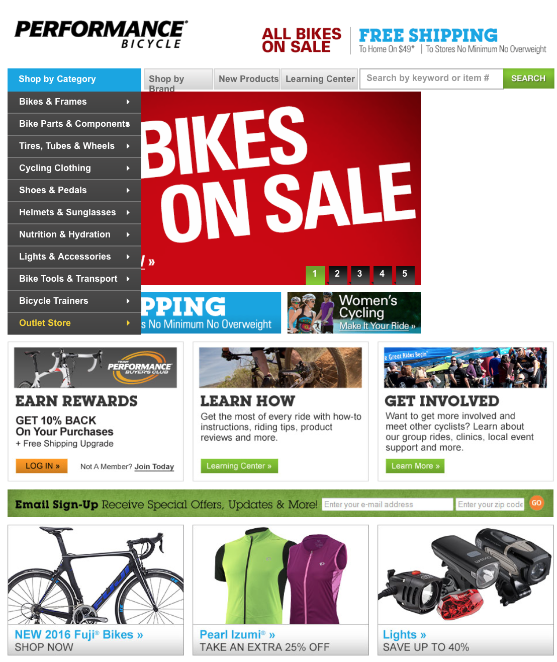 Save $$$ at Performance Bike with coupons and deals like: 30% Back Sitewide for Team Performance Buyer's Club Members ~ Free Shipping on Entire Order with Select Garmin Items ~ Up to 70% Off New Closeouts ~ Free Shipping on Select Helmets ~ Free Shipping on Orders $49+ ~ Outlet ~ and more >>>.