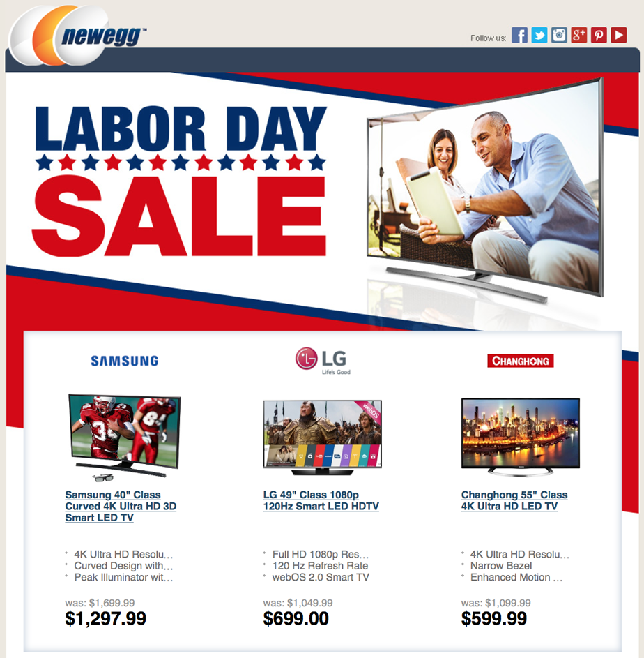 This weekend the Labor Day sales in have commenced and Best Buy is blowing it out in big screen HDTV value. We've waded through their offers and come up with the top