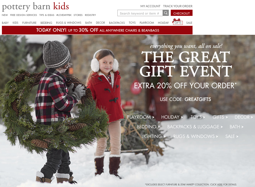Pottery Barn Kids in The Grove shopping details