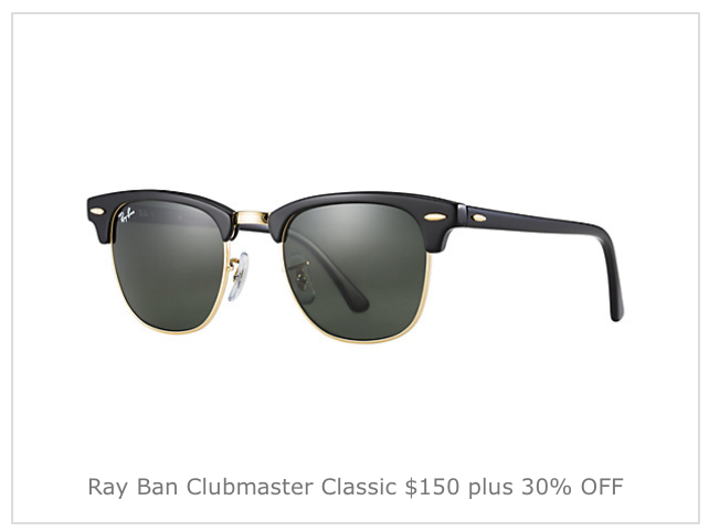 Ray-Ban Black Friday Early Sale: up to 57% off (Sunglasses from $65) Jomashop is taking up to 57% off select Ray-Ban Sunglasses with Coupon Code: