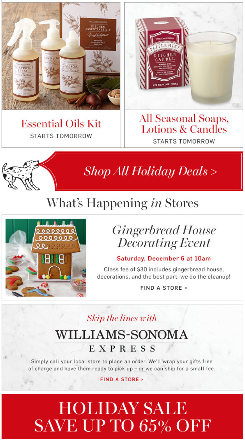 Sale. Whether you're shopping for a spectacular gift for an upcoming occasion or are looking to enliven your living space a little frugally, the Williams-Sonoma Home Sale pages are an excellent starting point for everything from monogrammed gifts to elegant and contemporary furniture.