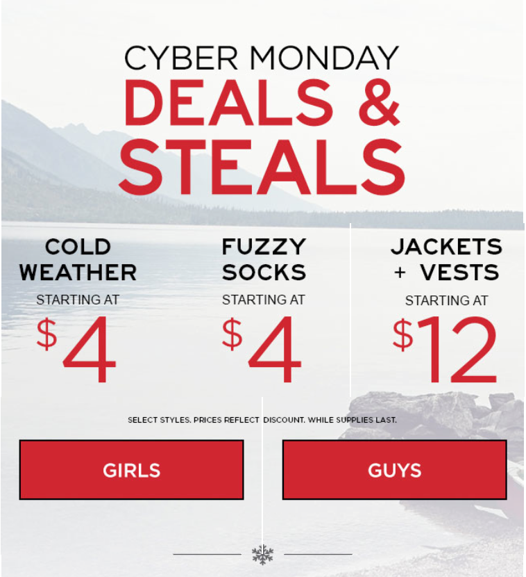 Deals on cyber monday 2018