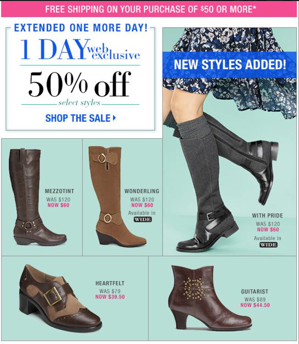Aerosoles Tax Record Tall Boots Black Friday Special $ Sale $ Bonus value $ $ Diamond Earrings with any $50 purchase. Bonus value $ Free ship at $ Enjoy Free Shipping at $49! See exclusions. Free ship at $ Aerosoles Patience Mid Shaft Boots.