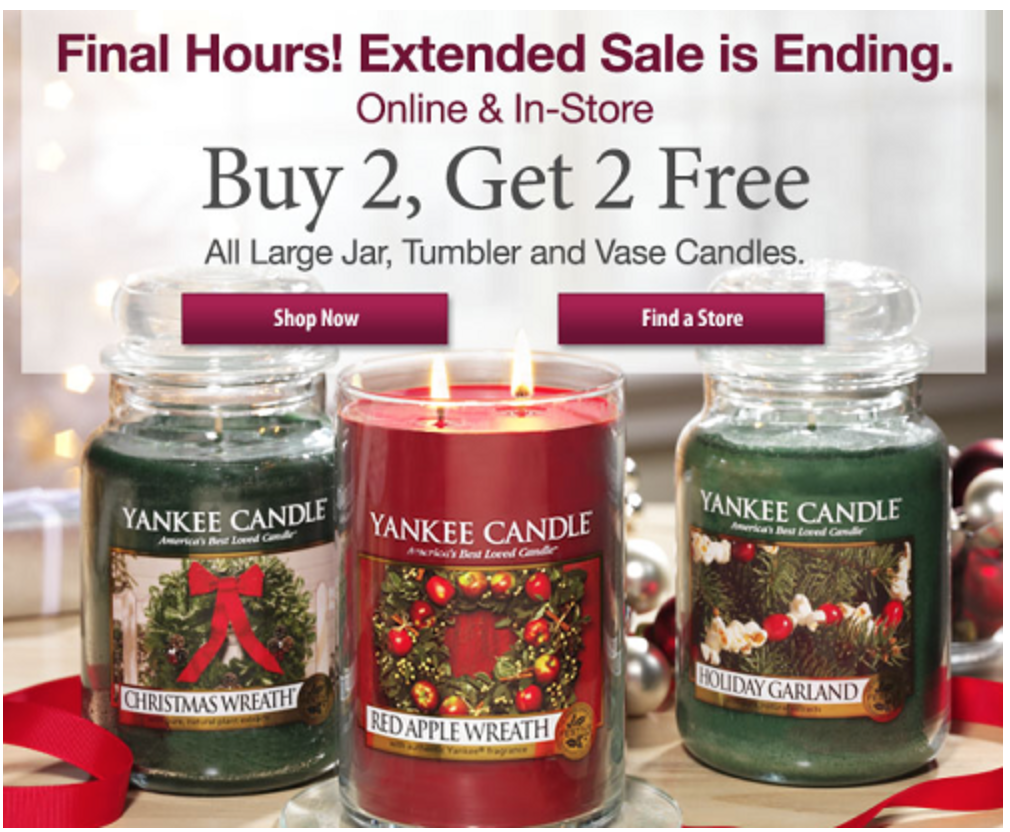 Yankee Candle Cyber Monday 2016 Sale Amp Deals