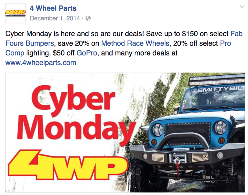 A Coupon For Cyber Monday 4 BFGoodrich Tires at 4 Wheel Parts verified December Get Coupons For 4 BFGoodrich Tires at 4 Wheel Parts Online Shopping Coupons, Promo Codes & Savings.