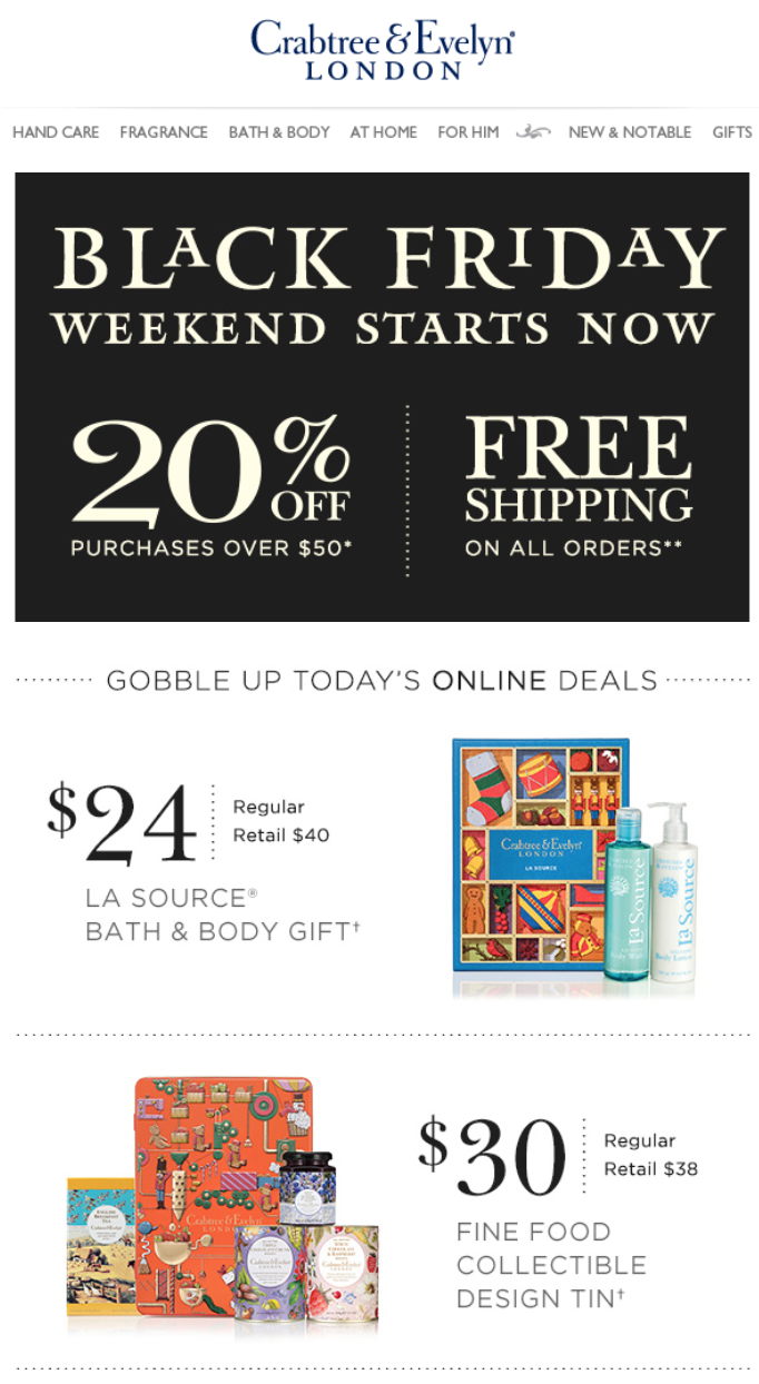 Crabtree Amp Evelyn After Christmas 2015 Sale Deals Amp Store