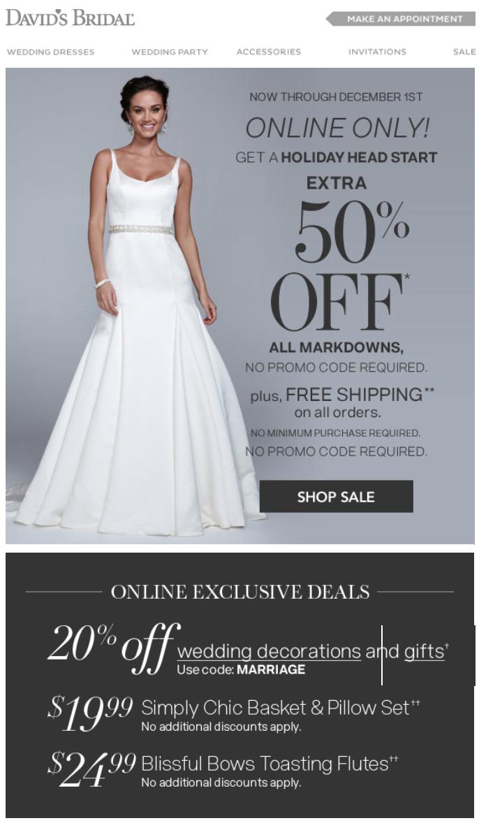David S Bridal Cyber Monday 2015 Deals Amp Dress Sale
