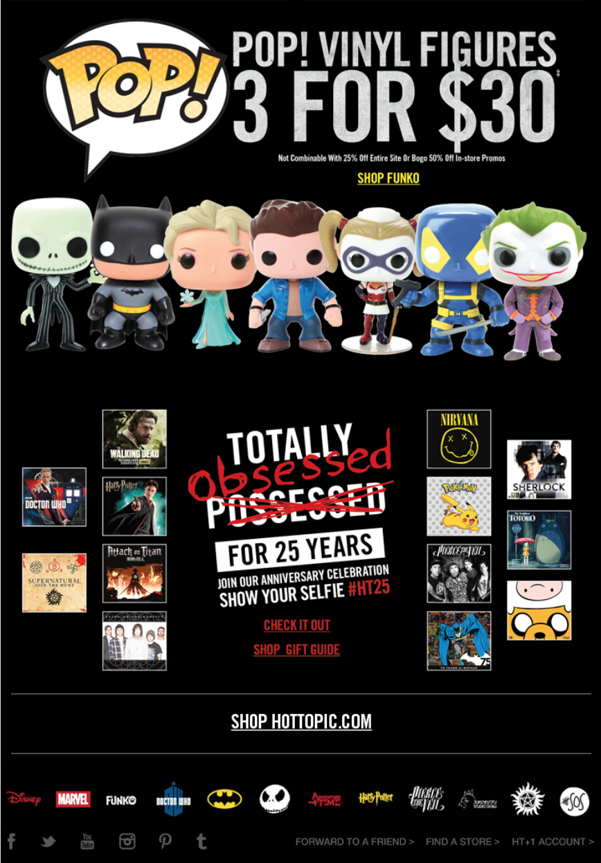 Hot Topic Black Friday 2015 Sale Amp Deals Cyber Monday 2015