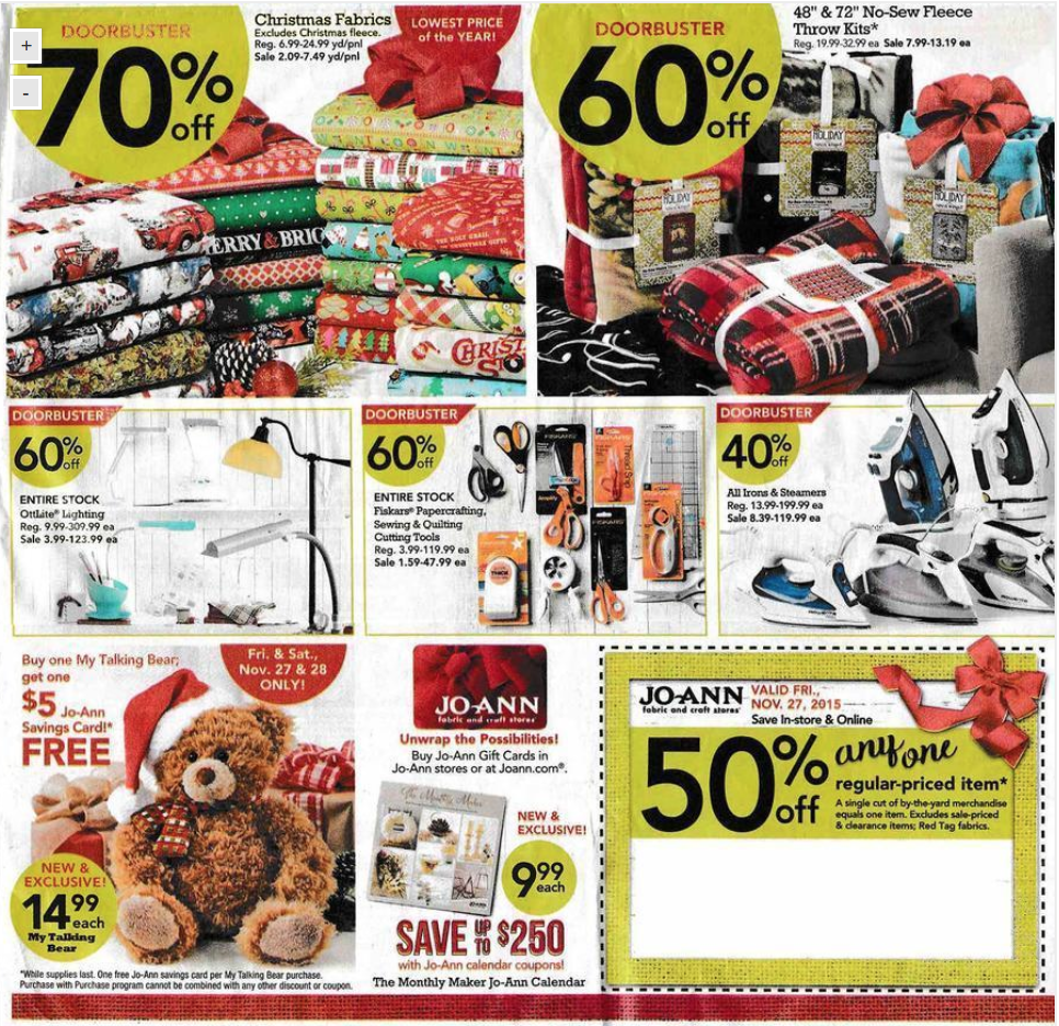 Jo Ann Fabric After Christmas 2015 Sale Amp Deals After