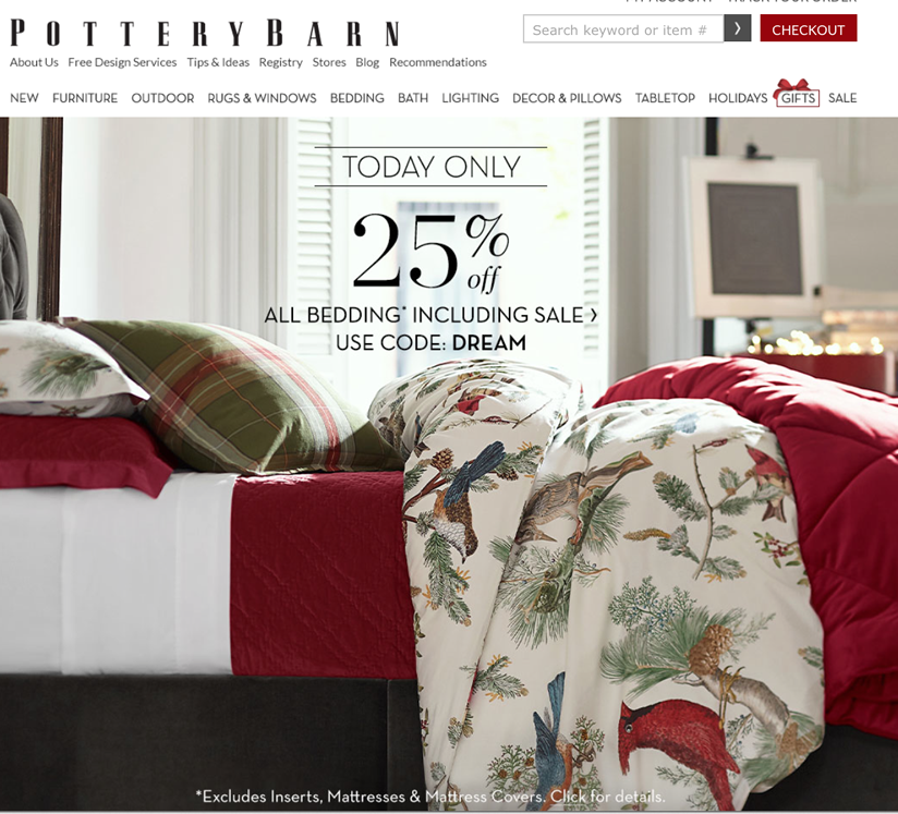 Pottery Barn Black Friday Sale Deals For 2016