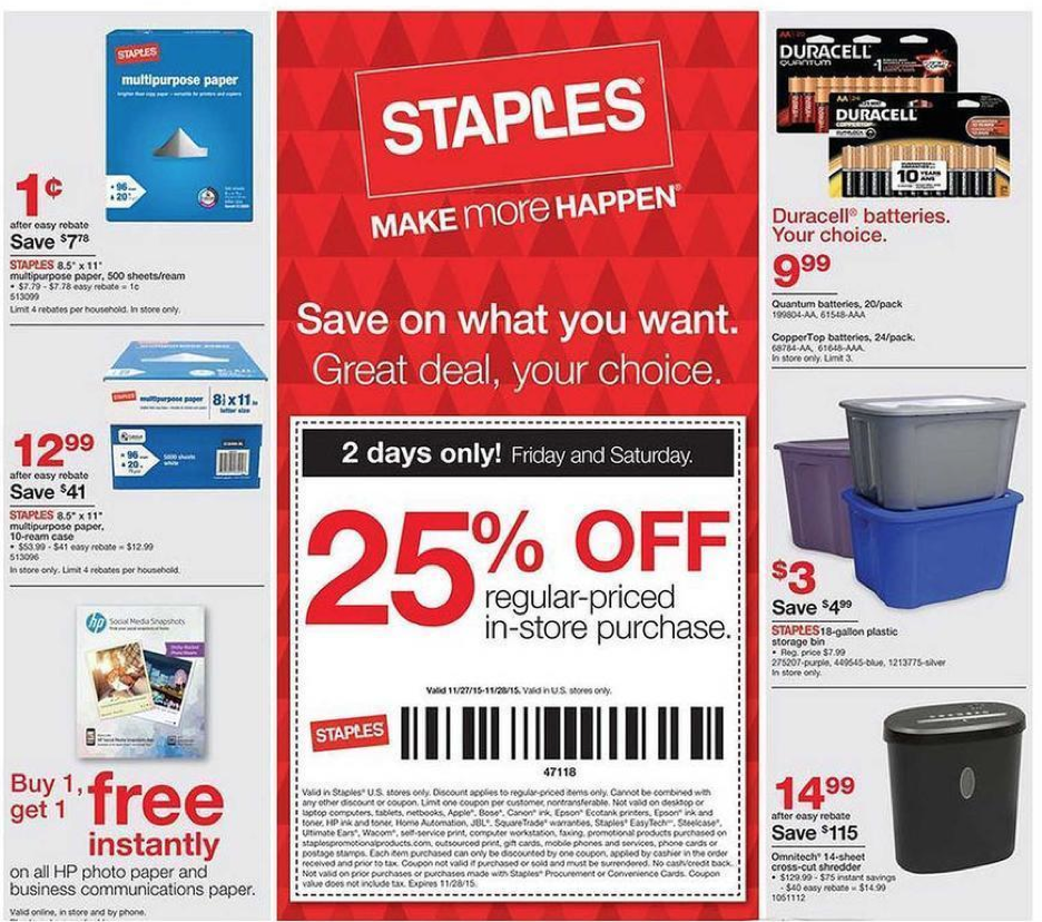 Staples black friday 2018 deals canada