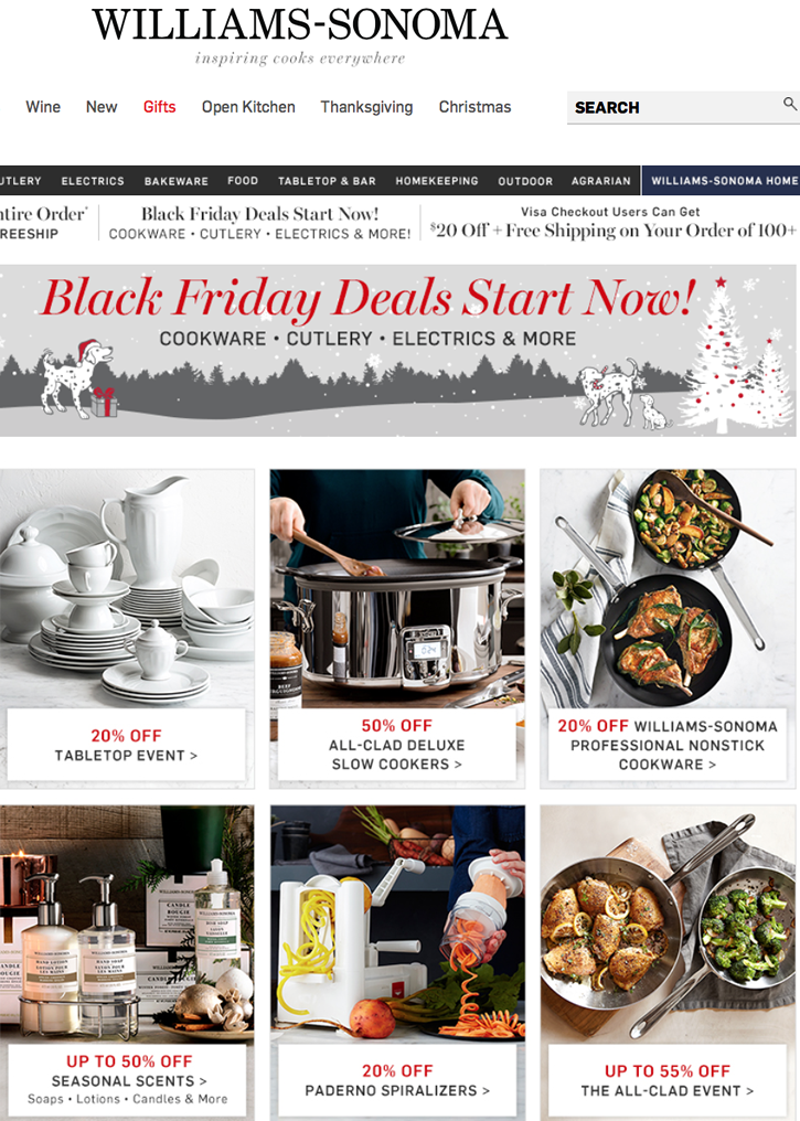 Williams-Sonoma: Early Black Friday Savings Extended! Deals from Williams Sonoma, Pottery Barn & More. Email sent: Nov 17, am. Is this your brand on Milled?