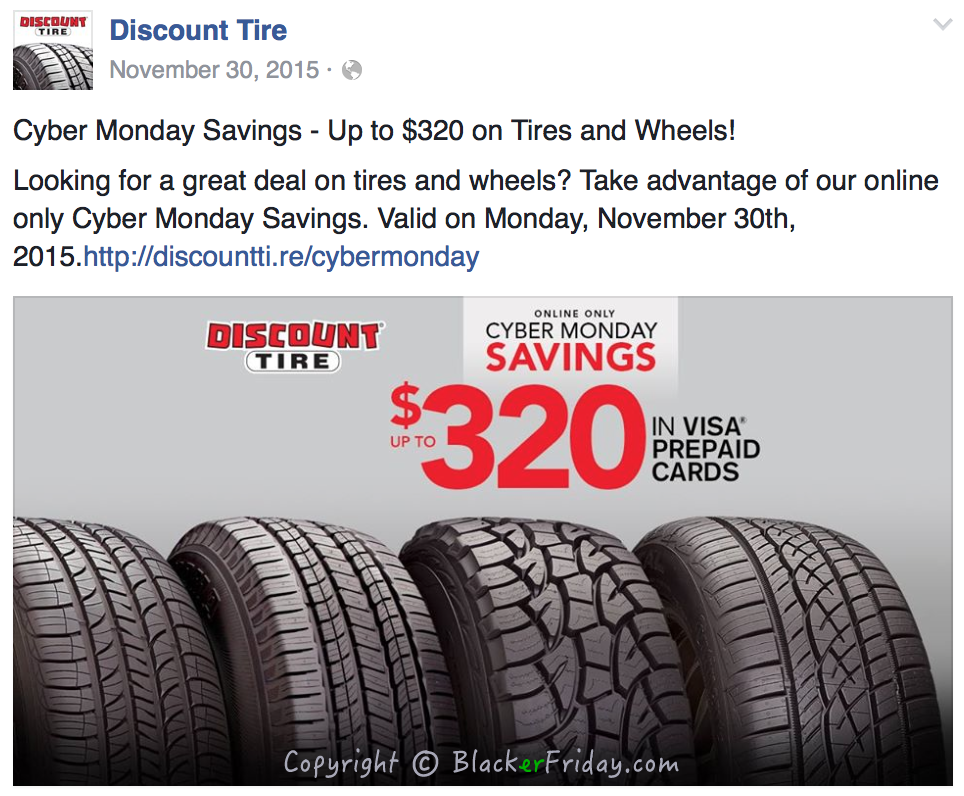 Discount Tire Direct >> Discount Tire Cyber Monday 2017 Deals & Rebates | Blacker Friday!
