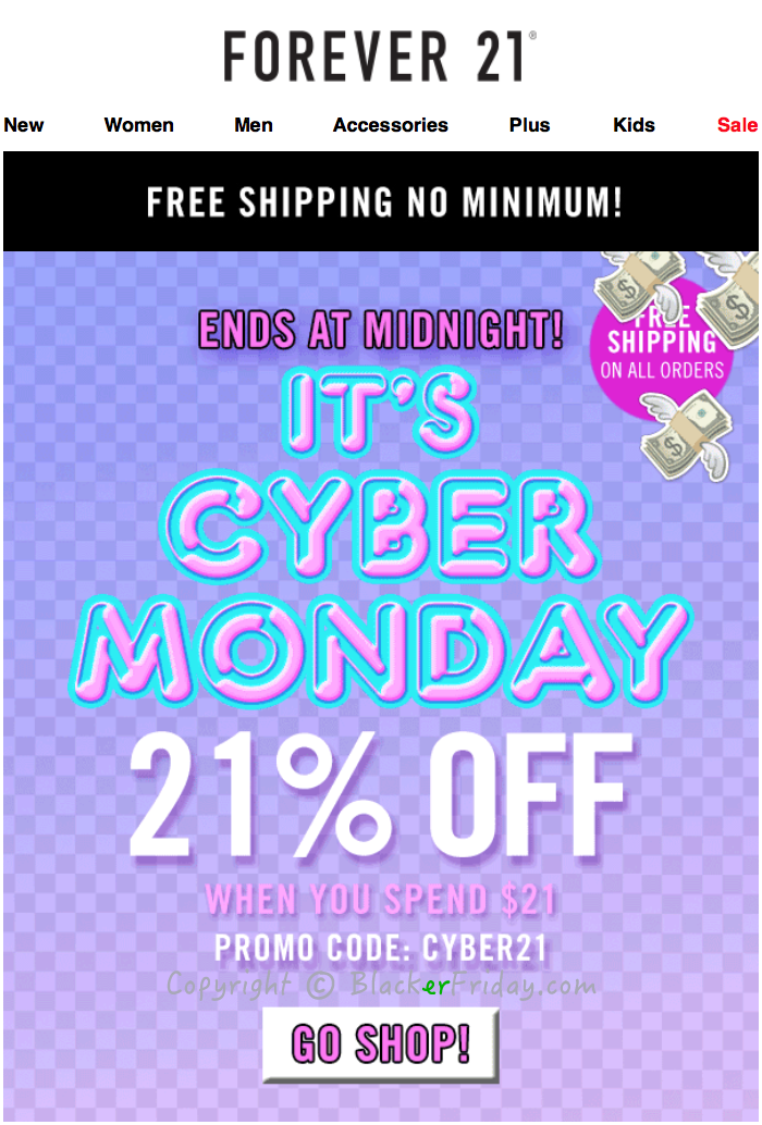 Forever 21 Cyber Monday 2017 Sale & Deals | Blacker Friday