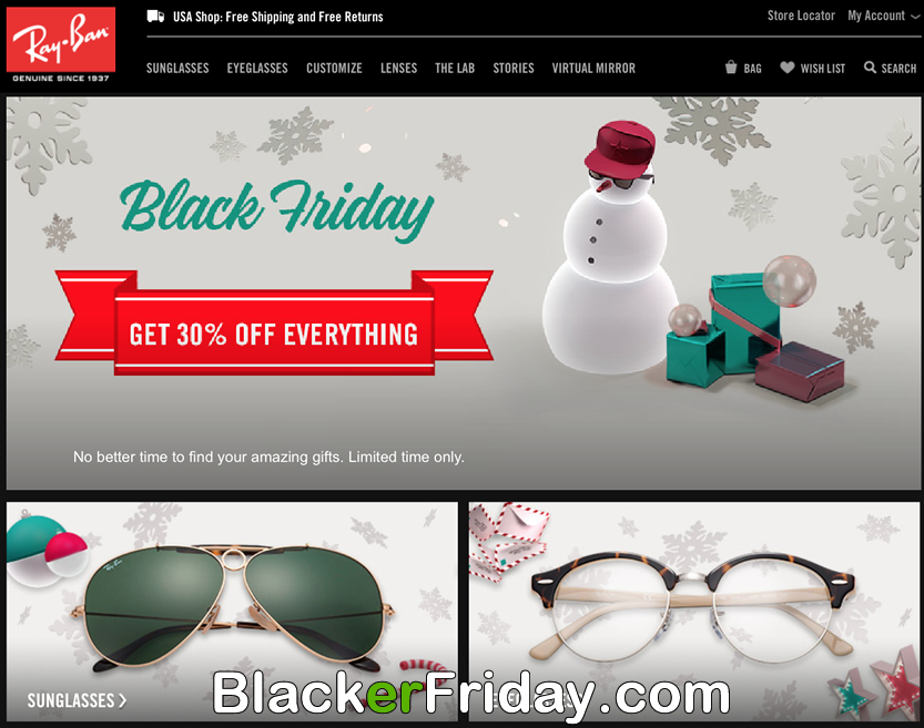 ray ban 3015 wlce  Ray Ban Black Friday 2017 Sale & Wayfarer Sunglasses  BlackerFridaycom