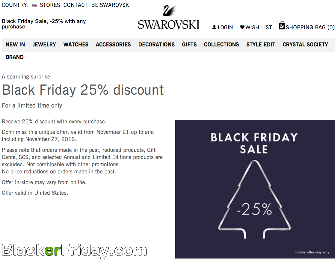 Swarovski coupons discounts
