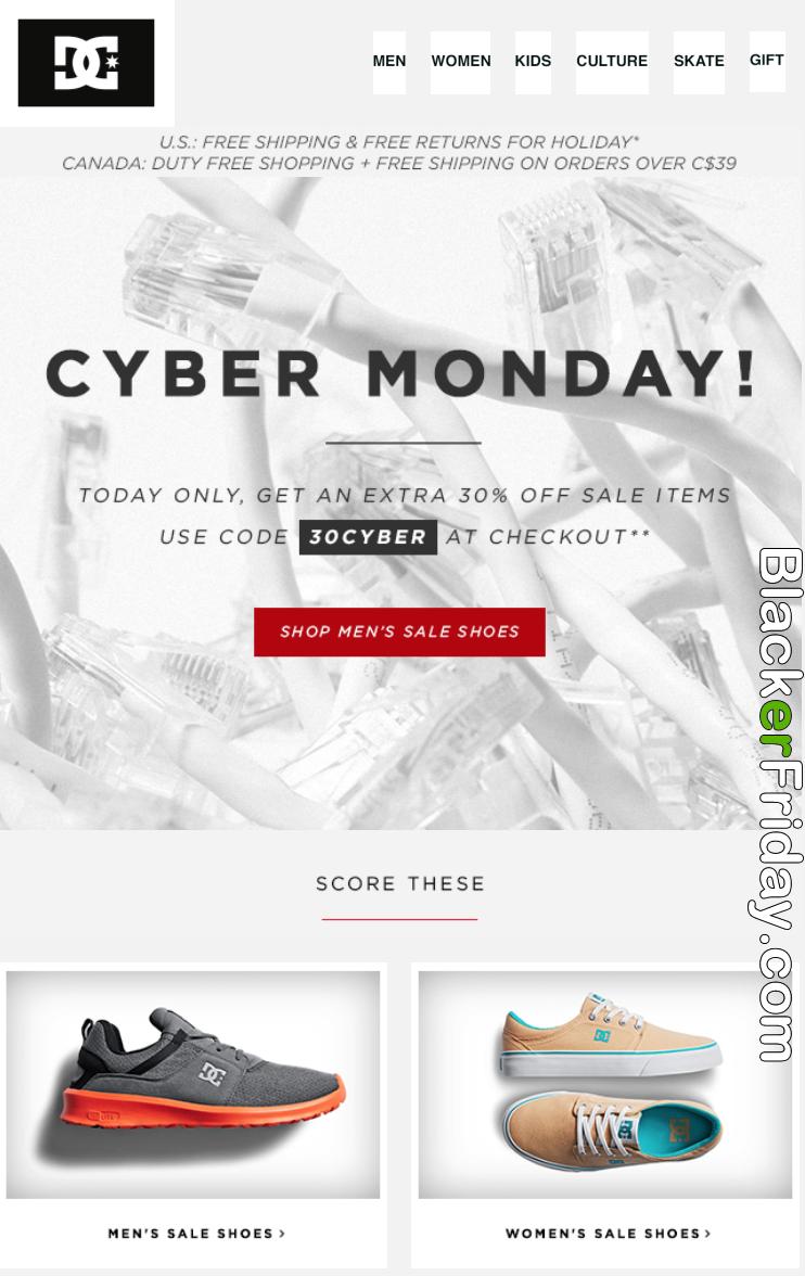 Dc Shoes Cyber Monday Sale