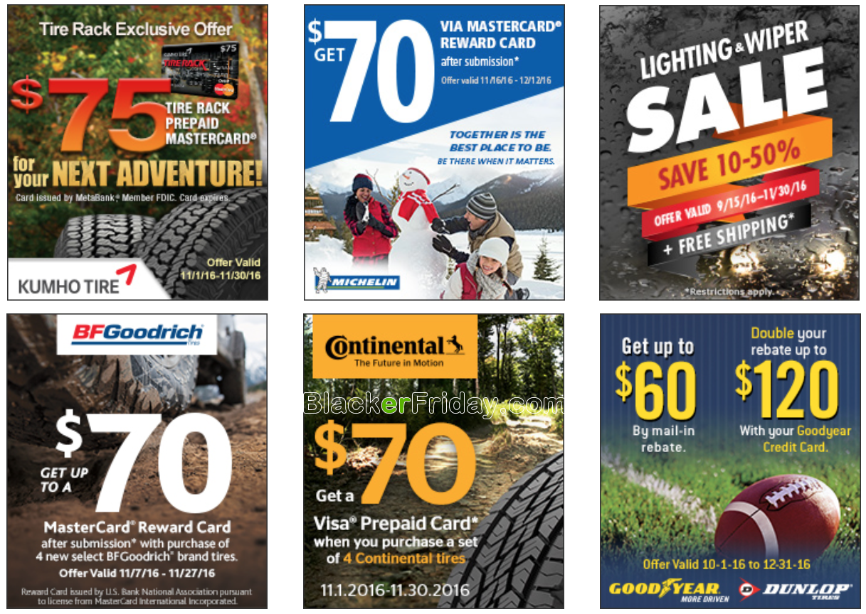 Details: Get $ VISA Prepaid Card by mail-in or online rebate when you Purchase a set of four Continental TerrainContact A/T tires or $70 VISA Prepaid Card by mail-in or online rebate when you purchase a set of four of all other Continental brand tires. Valid on tires purchased from Tire Rack.