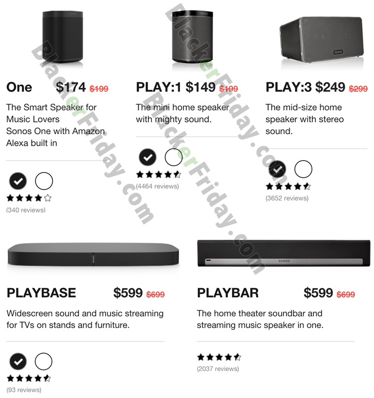 Sonos Black Friday sales and deals: up to 100 off speakers