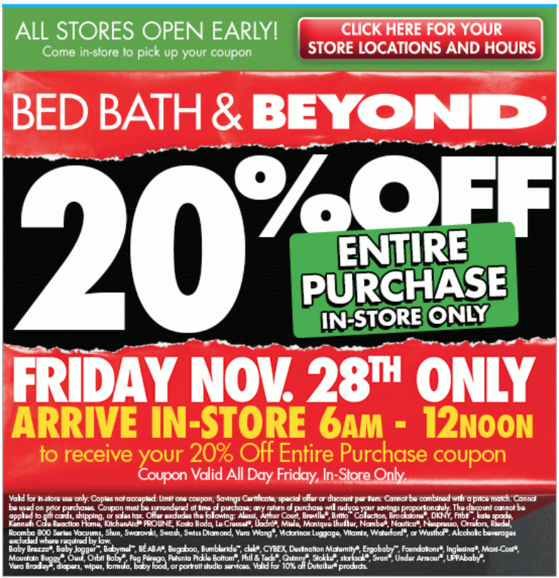 Bed Bath And Beyond 2019 Black Friday