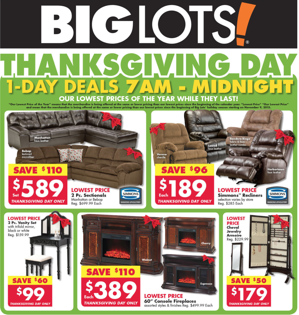Big Lots Black Friday 2019 Sale & Furniture Deals