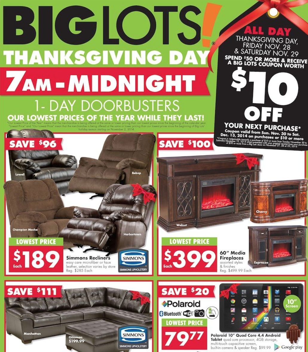 Furniture Store Black Friday Sale: Big Lots Black Friday 2018 Sale & Furniture Deals