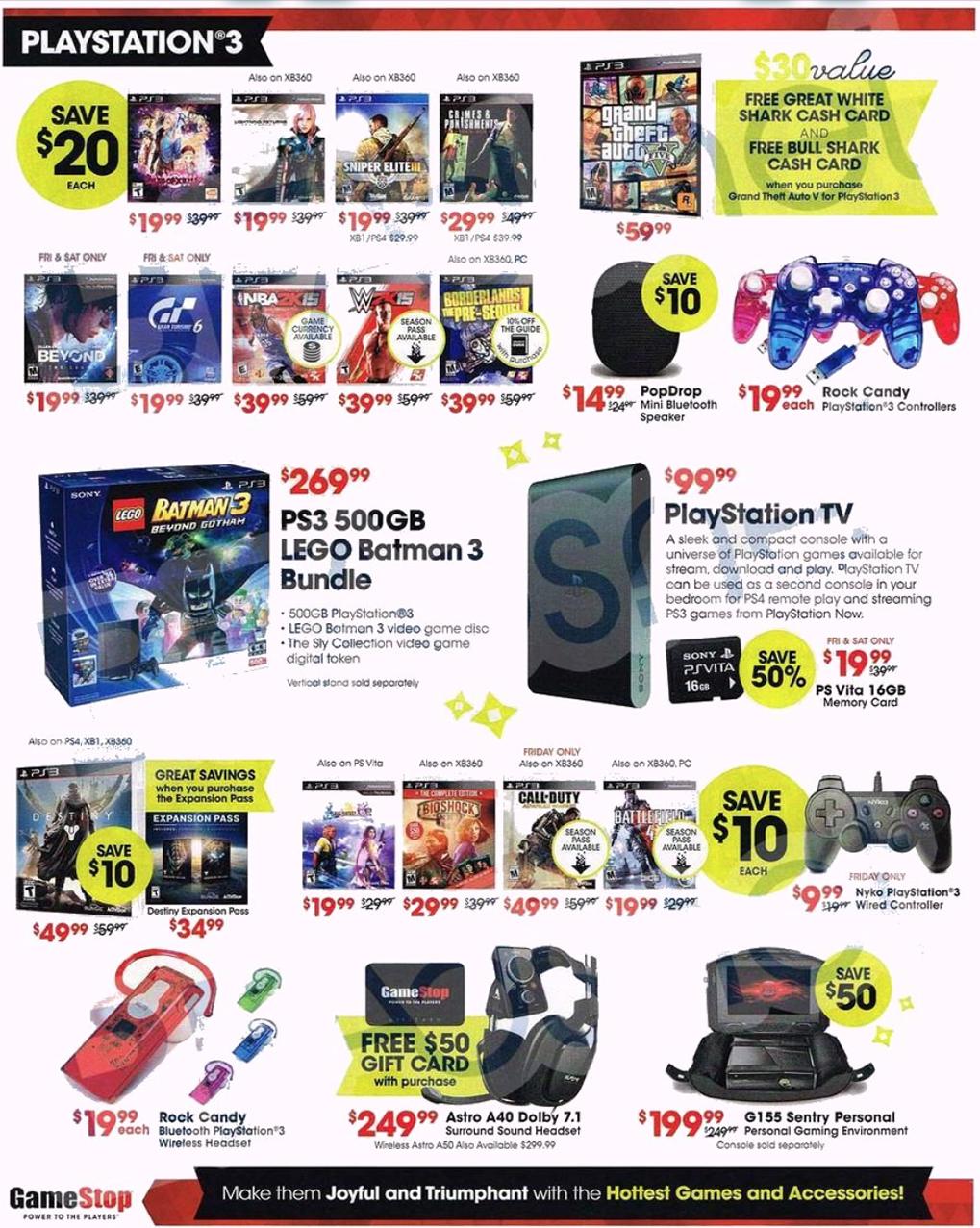 Gamestop Black Friday 2019 Ad & Sale Details - BlackerFriday com