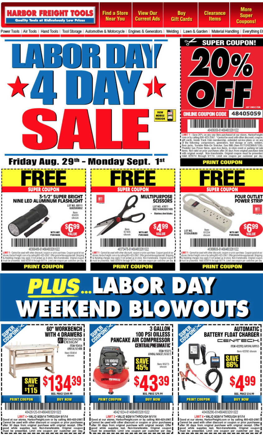Cyber Monday Walmart 2017 >> Harbor Freight Tools Labor Day Sale 2017 - Blacker Friday