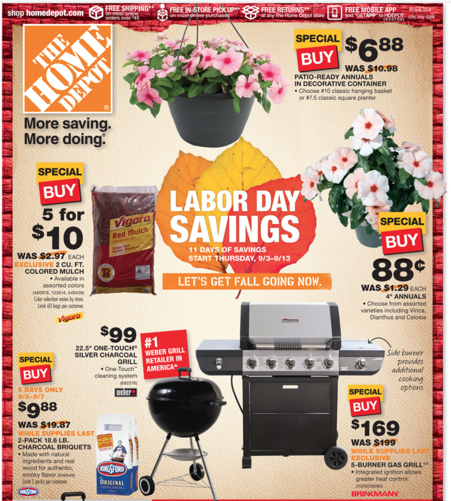 Home Depot Labor Day Sale 2018 Blacker Friday