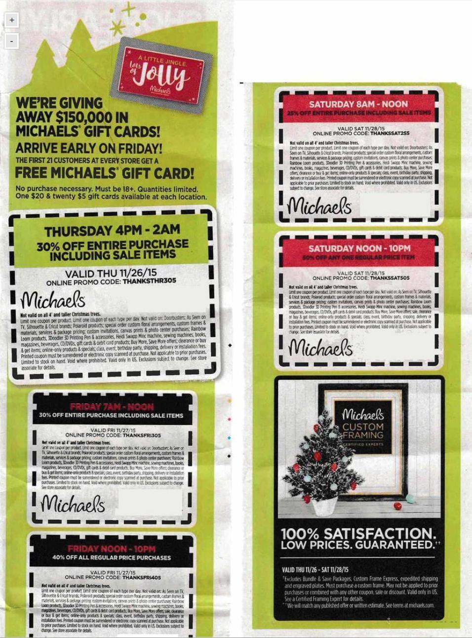 Michaels Black Friday 2018 Sale & Ad - Blacker Friday