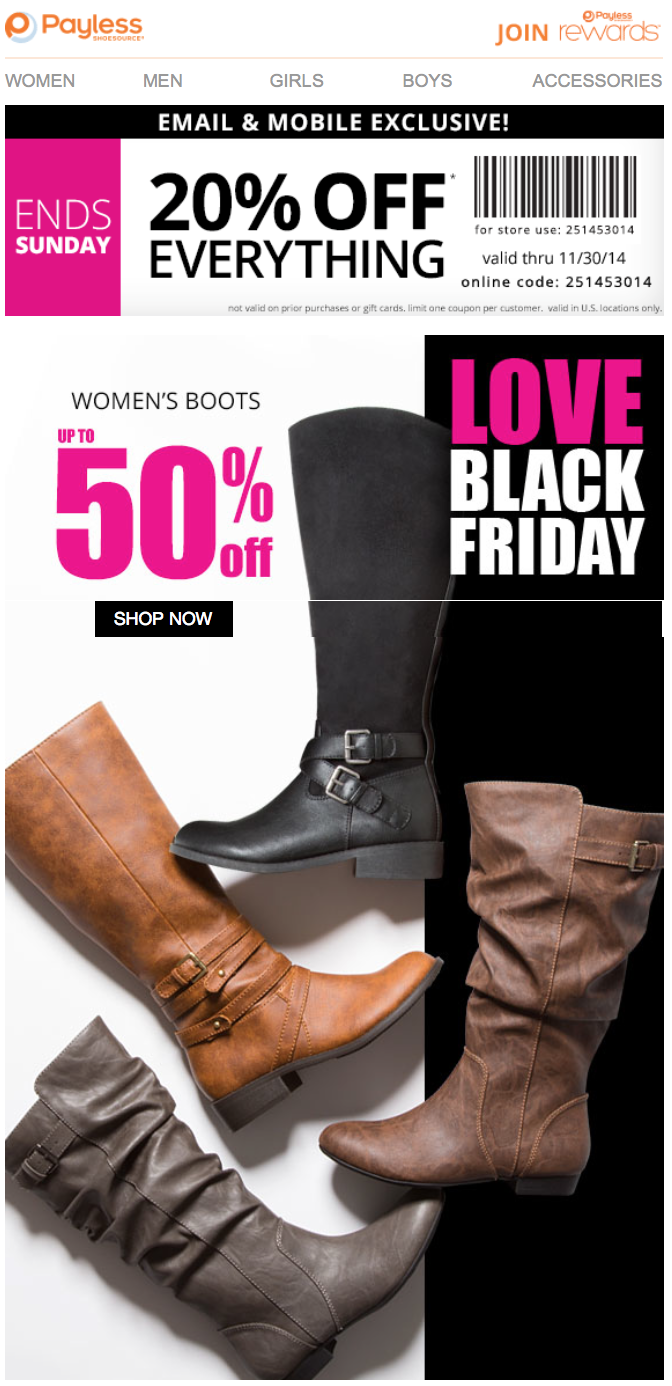 Payless Shoes Black Friday Store Hours