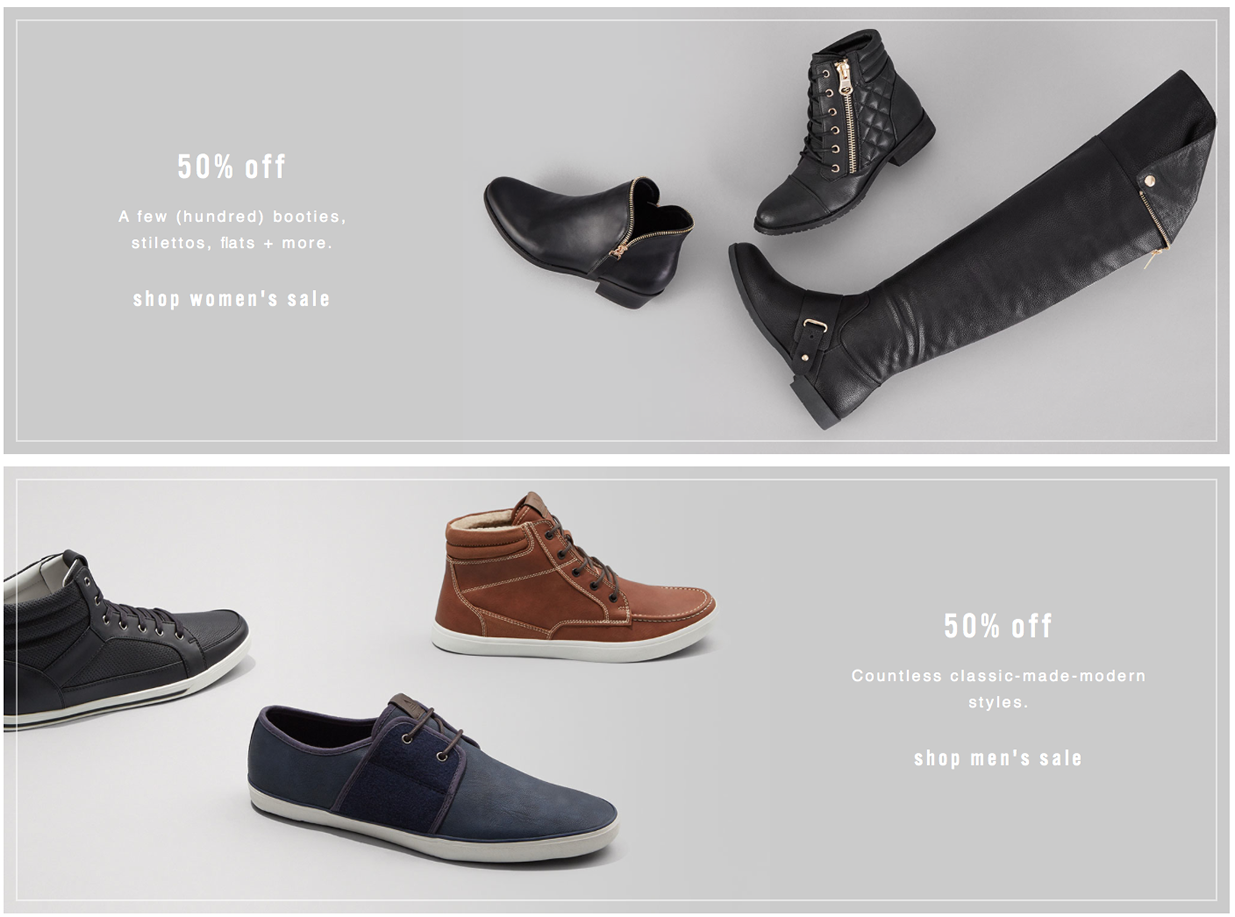 Aldo Shoes Black Friday 2020 Sale