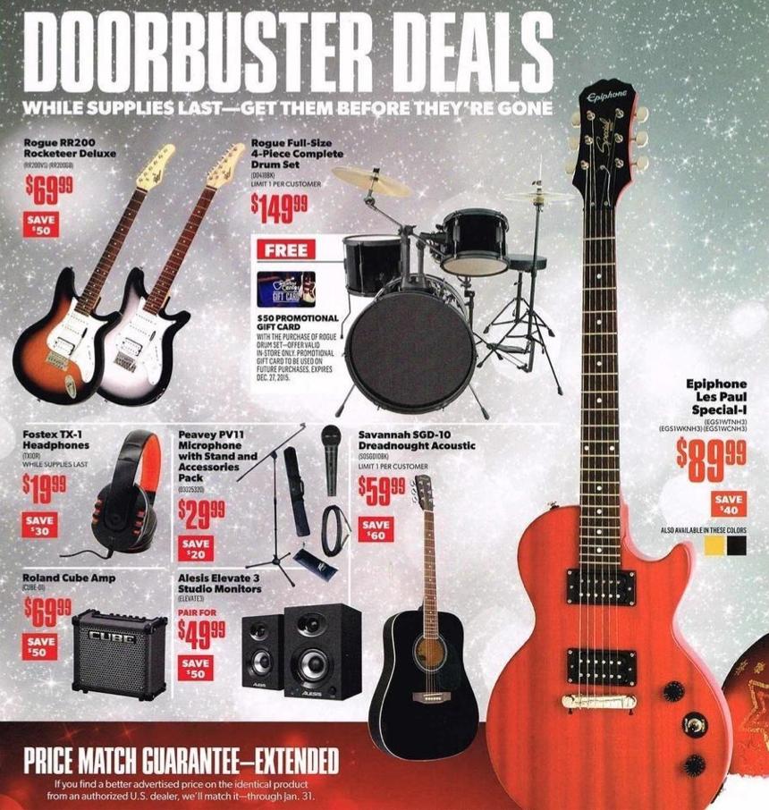 guitar center black friday 2019 ad sale. Black Bedroom Furniture Sets. Home Design Ideas