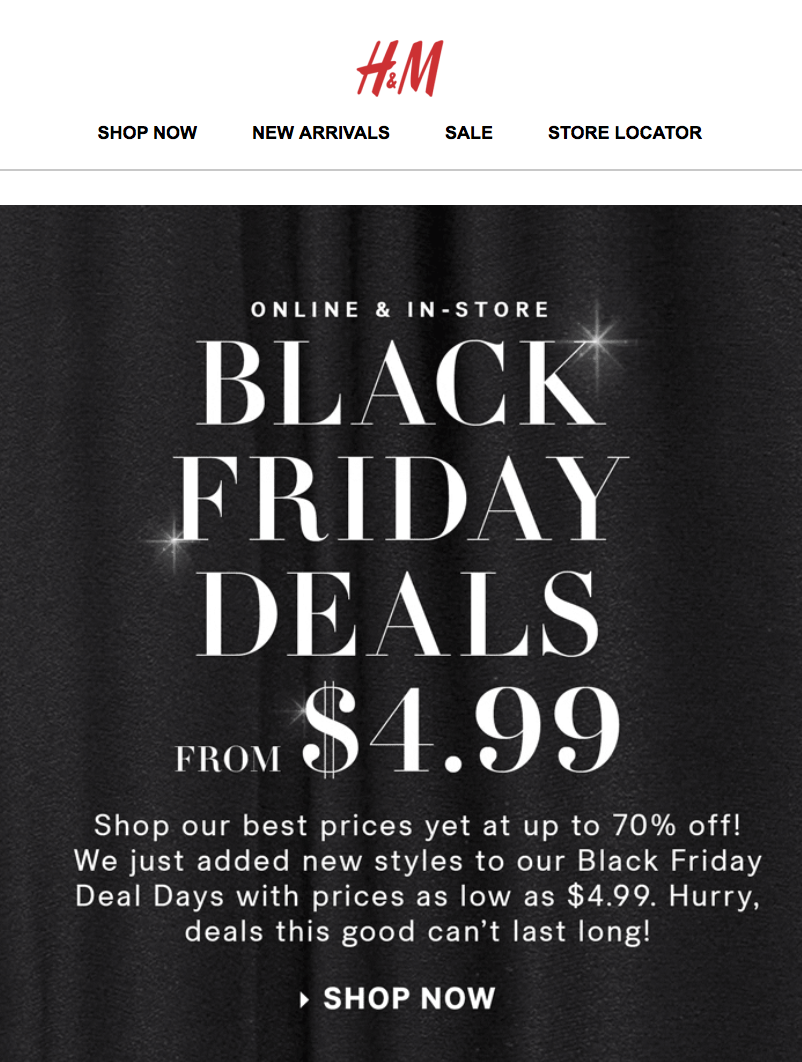 H&M Black Friday