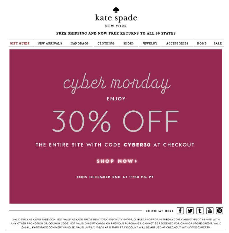 Cyber Monday Walmart 2017 >> Kate Spade Cyber Monday 2018 Sale & Handbag Deals - Blacker Friday