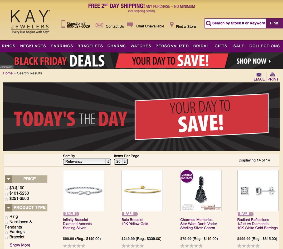 Kay Jewelers Black Friday 2018 Sale