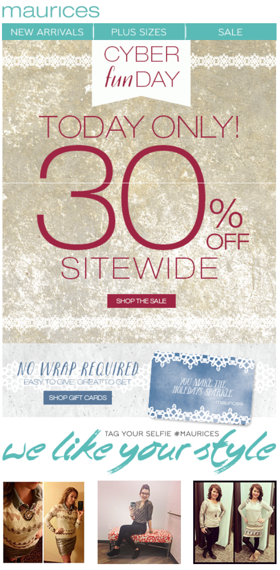 Maurices Black Friday and Cyber Monday Deals Coupon Last updated on November 16, By Jay Bokhiria Leave a Comment.