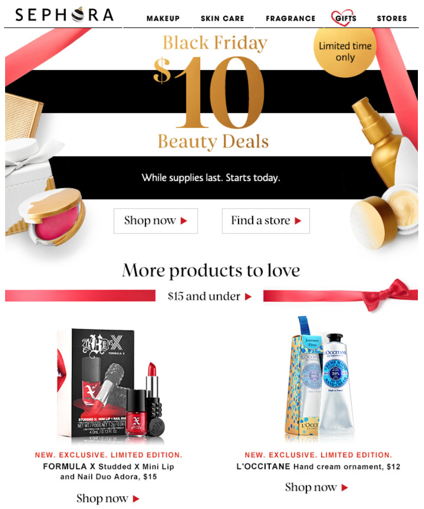 Beauty sale at Sephora. Find great deals on popular makeup, skin care, fragrance, bath & body, and beauty tools.