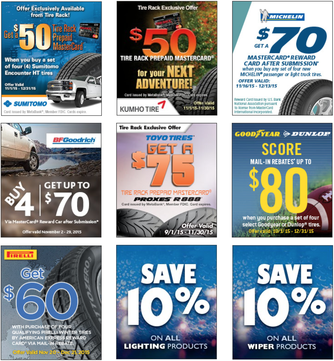It's Black Friday , and Discount Tire Direct is pulling out all the stops with our tire and rim deals!