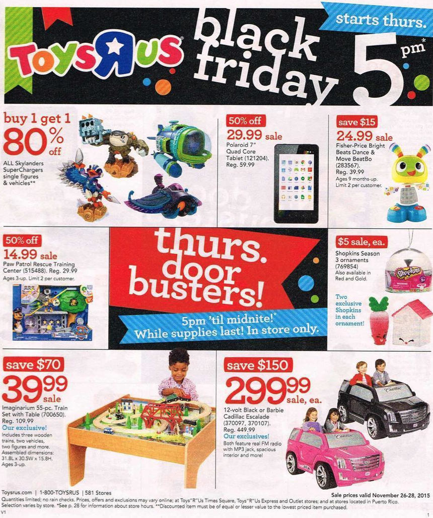 Toys R Us Black Friday 2019 Ad Amp Sale Details