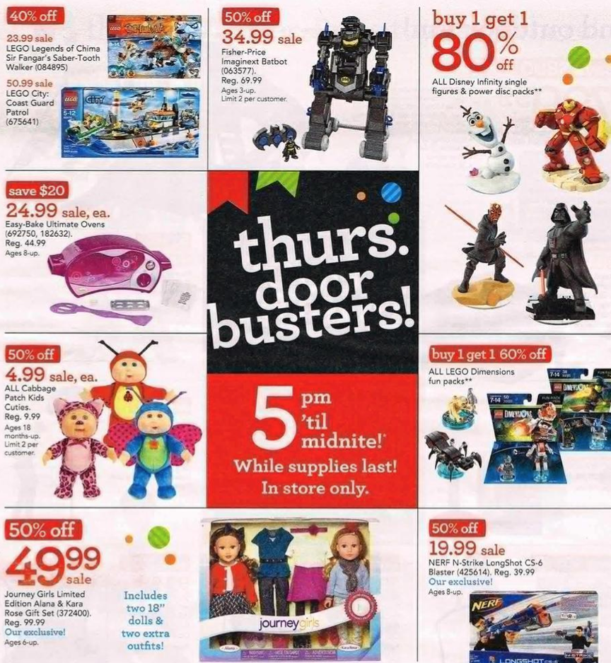Babies R Us black Friday specials A review of Toys R Us by Natalie-Ann M on 26 Nov Friday morning I received an email from Babies R Us saying that their online deals are now available.