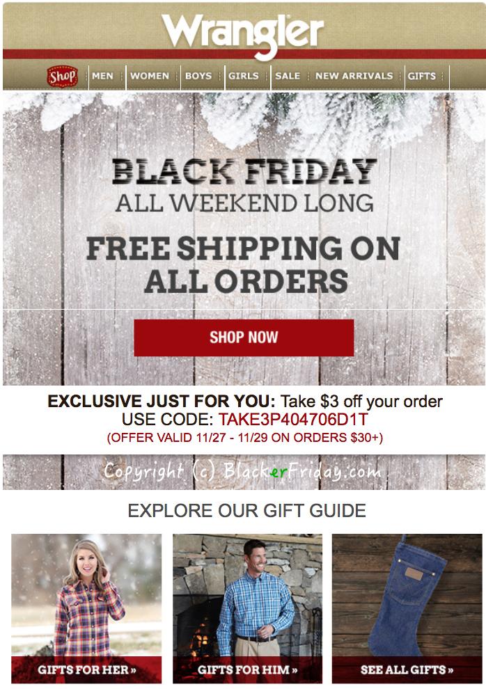 Wrangler Jeans Black Friday 2018 Sale - Blacker Friday